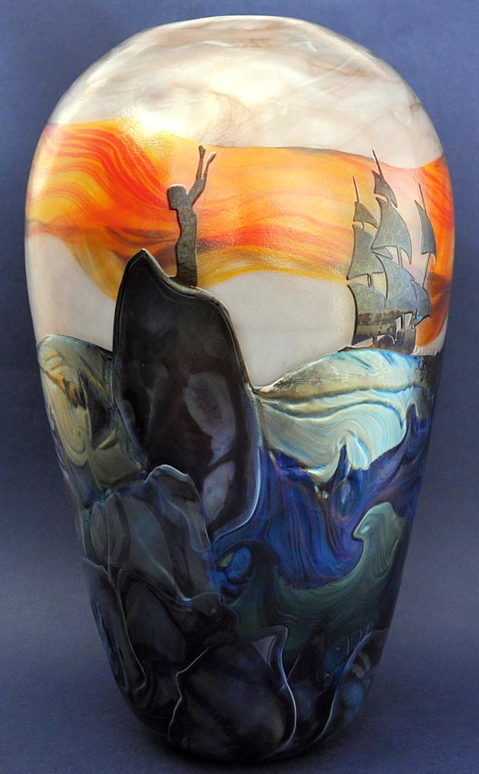 The Tempest Vase No4 by Richard Golding Station Glass
