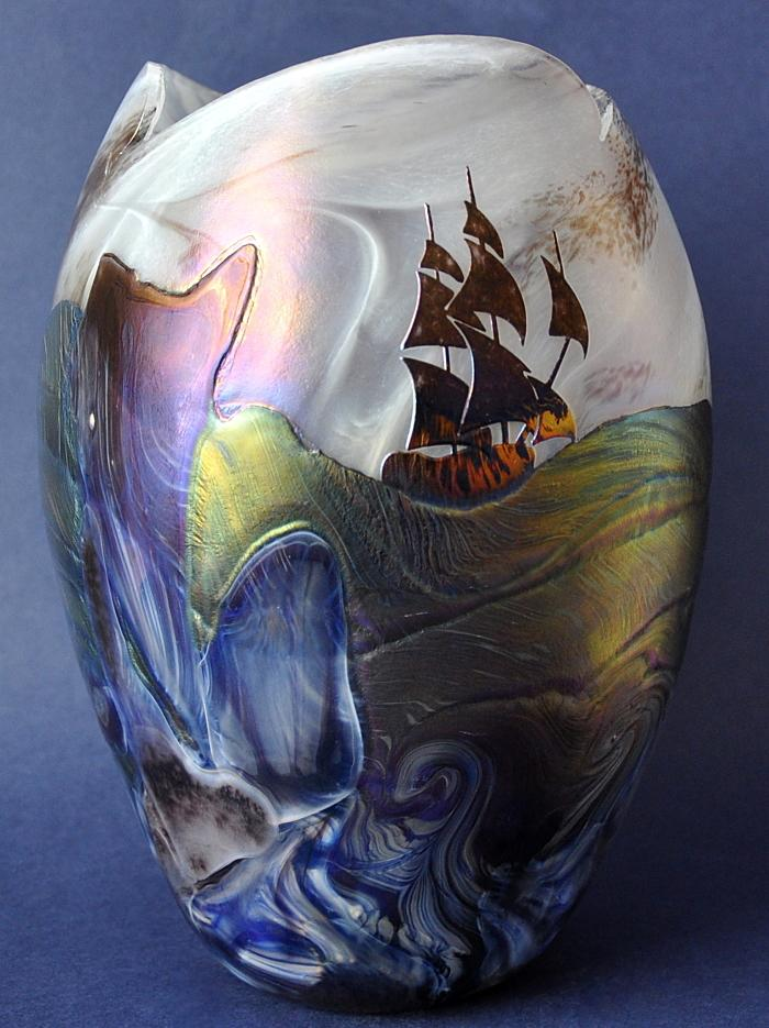 The Tempest Vase No5 by Richard Golding Station Glass